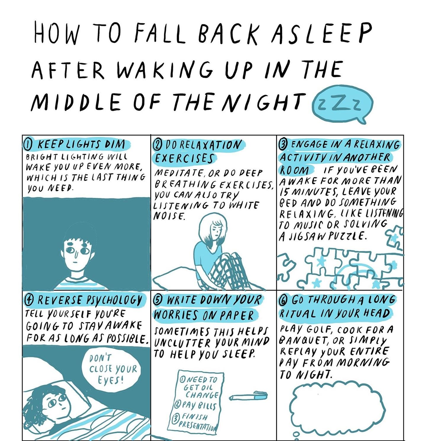 How to Fall Back Asleep After Waking Up in the Middle of the Night