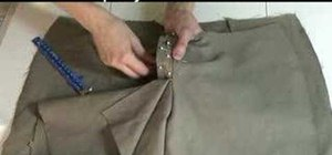 Sew on a zipper to a pair of pants