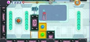 Get through the Mysterious UFO level on Kirby's Epc Yarn