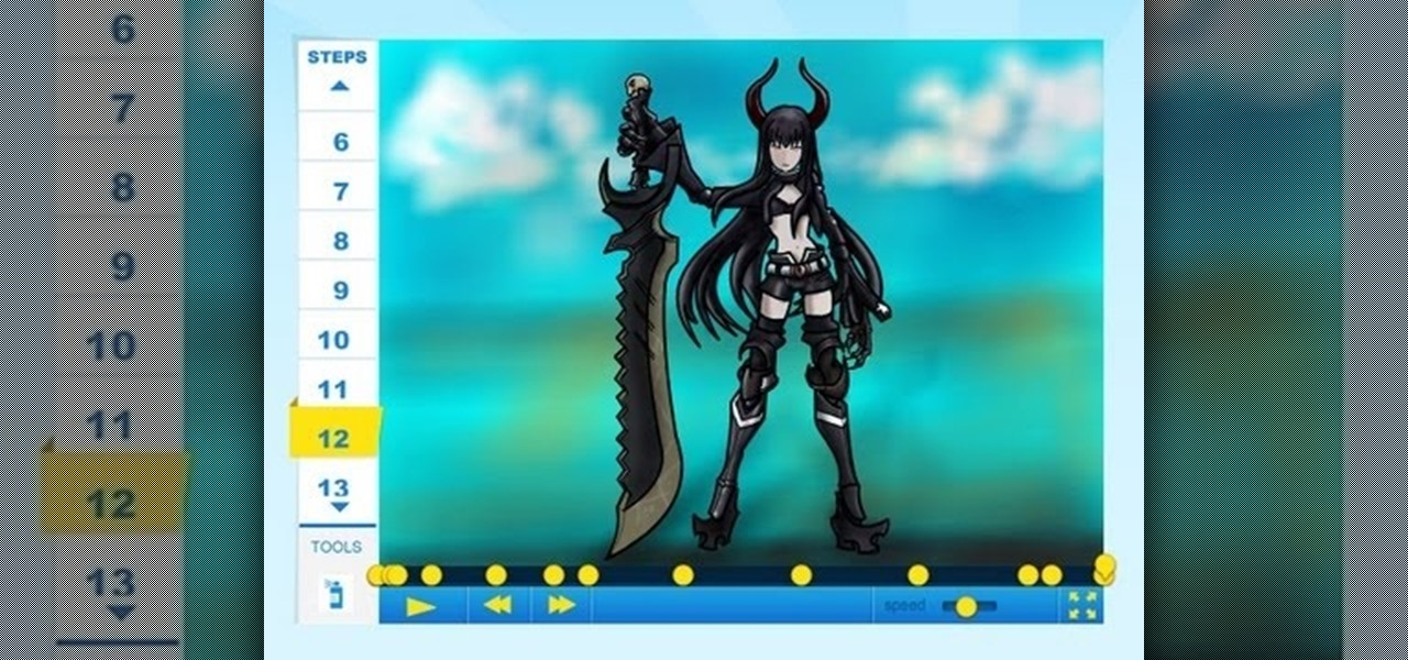 Draw Figma Black Gold Saw from Black Rock Shooter
