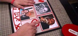 "Craft a Valentine's Day ""I Love You"" scrapbook layout"