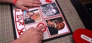 "Craft a Valentine's Day ""I Love You"" scrapbook layout"