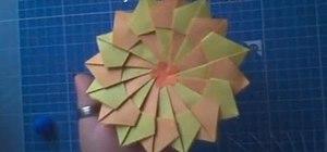 Fold an origami mandala design