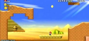 Collect all three Star Coins in New Super Mario Bros Wii World 2-2