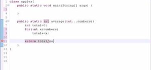 Make a variable length argument list for Java