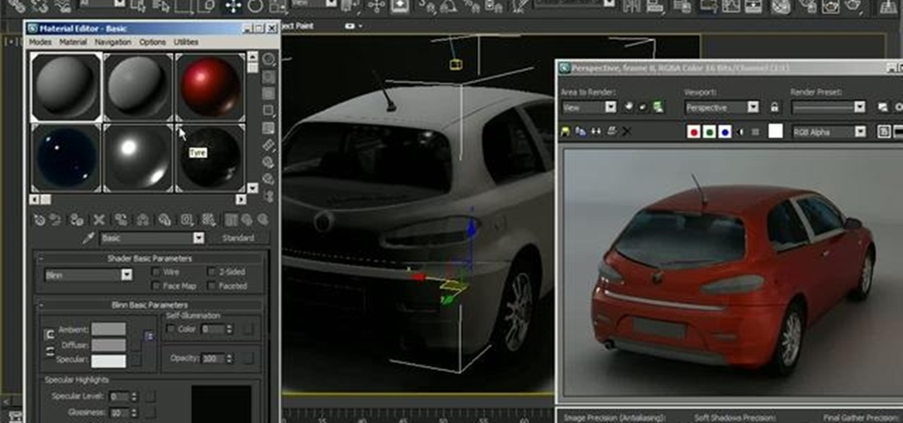How to light and render a 3d model of a car in autodesk for 3d studio max models