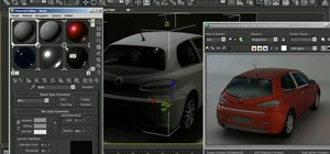 Light and render a 3D model of a car in Autodesk 3ds Max 2010