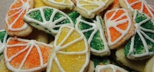 Bake colorful citrus slice cookies