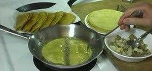 Fry crispy homemade tacos
