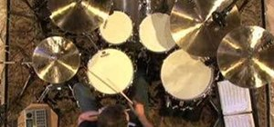 Play jazz bass drum comping