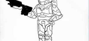 Draw Master Chief from the video game, Halo