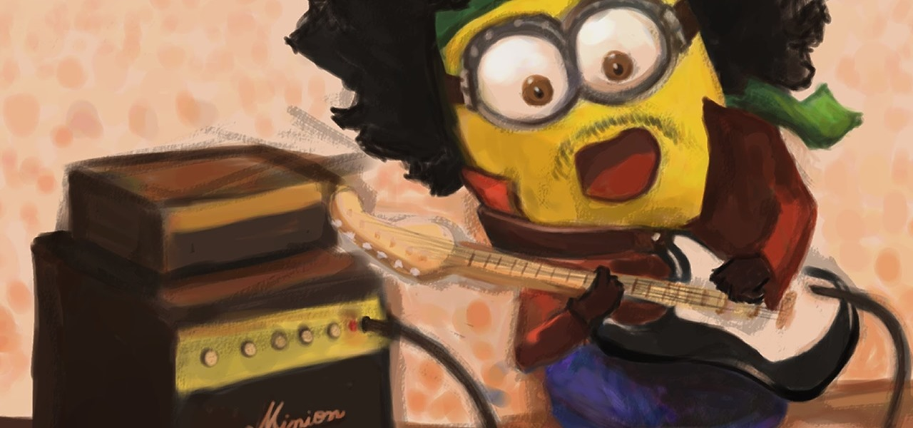 Draw a Minion from Despicable Me (Jimi Hendrix Version)