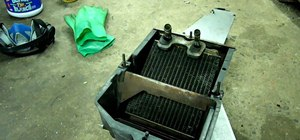 Remove and clean the heater in a Chevrolet truck