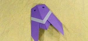 Fold a cute traditional origami cicada