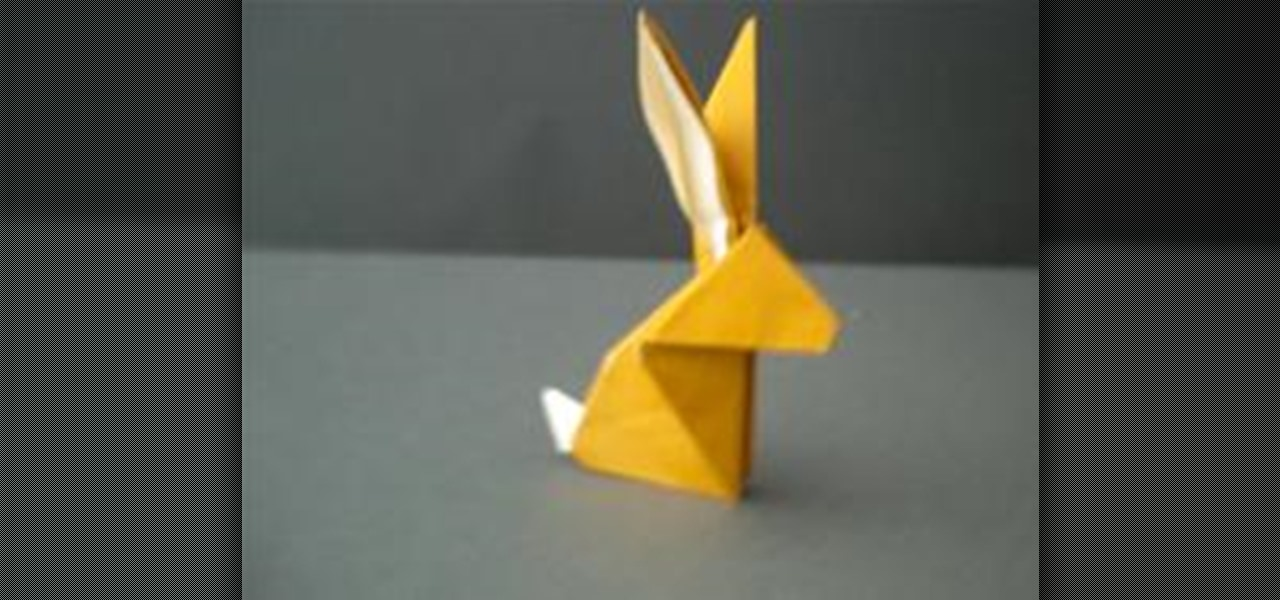 Dollar Bill Origami Rabbit