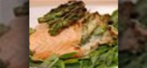 Cook asparagus & crab-stuffed salmon fillets