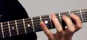 Play the A major scale in second position on guitar