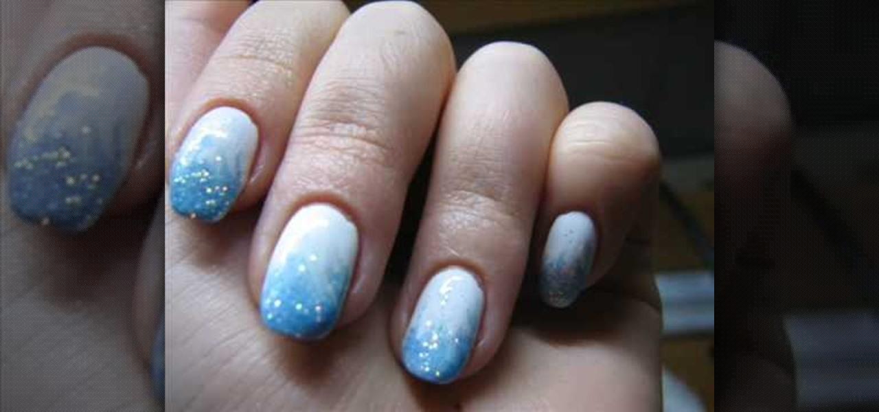 Nails Snowflake Effect