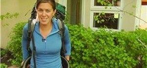 Properly adjust a hiking backpack