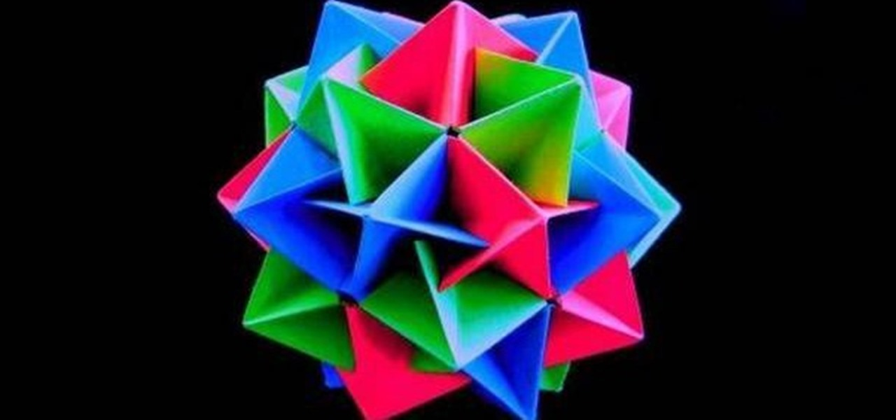 How to Make an origami twinboat icosahedron « Origami :: WonderHowTo