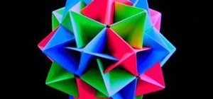 Make an origami twinboat icosahedron
