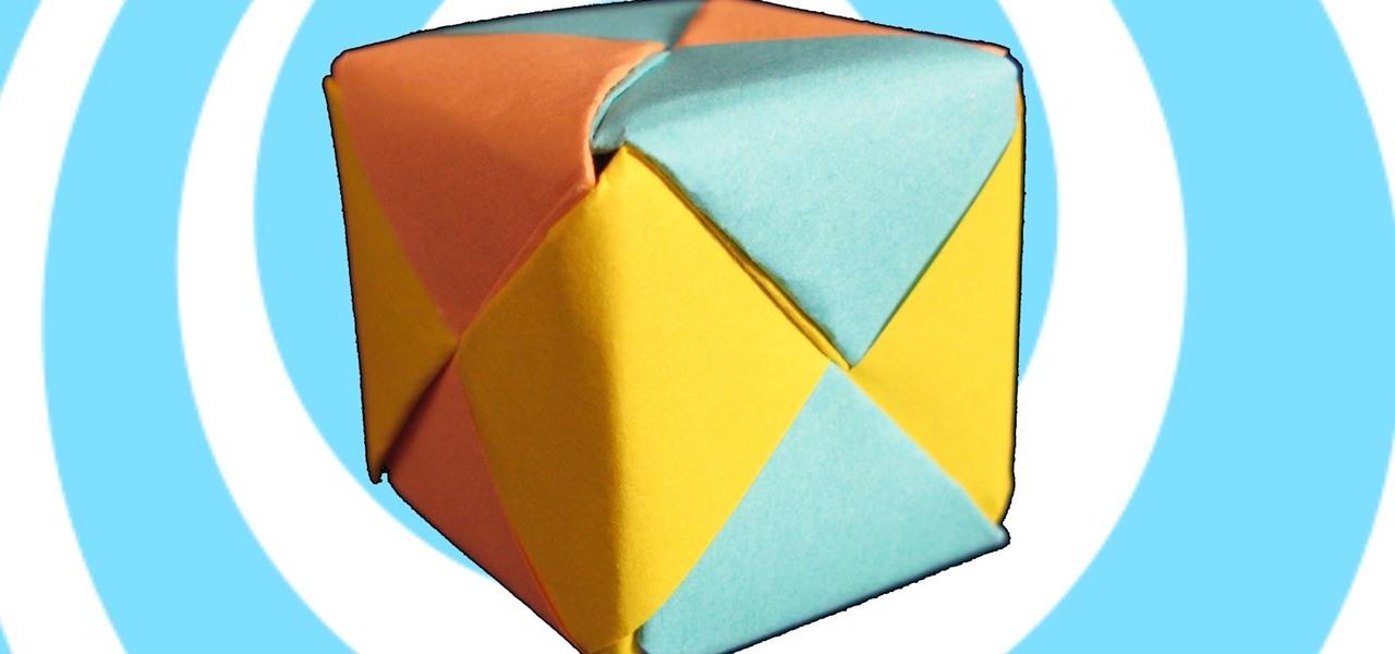 Make Modular Origami Sonobe Cube (6 Units)
