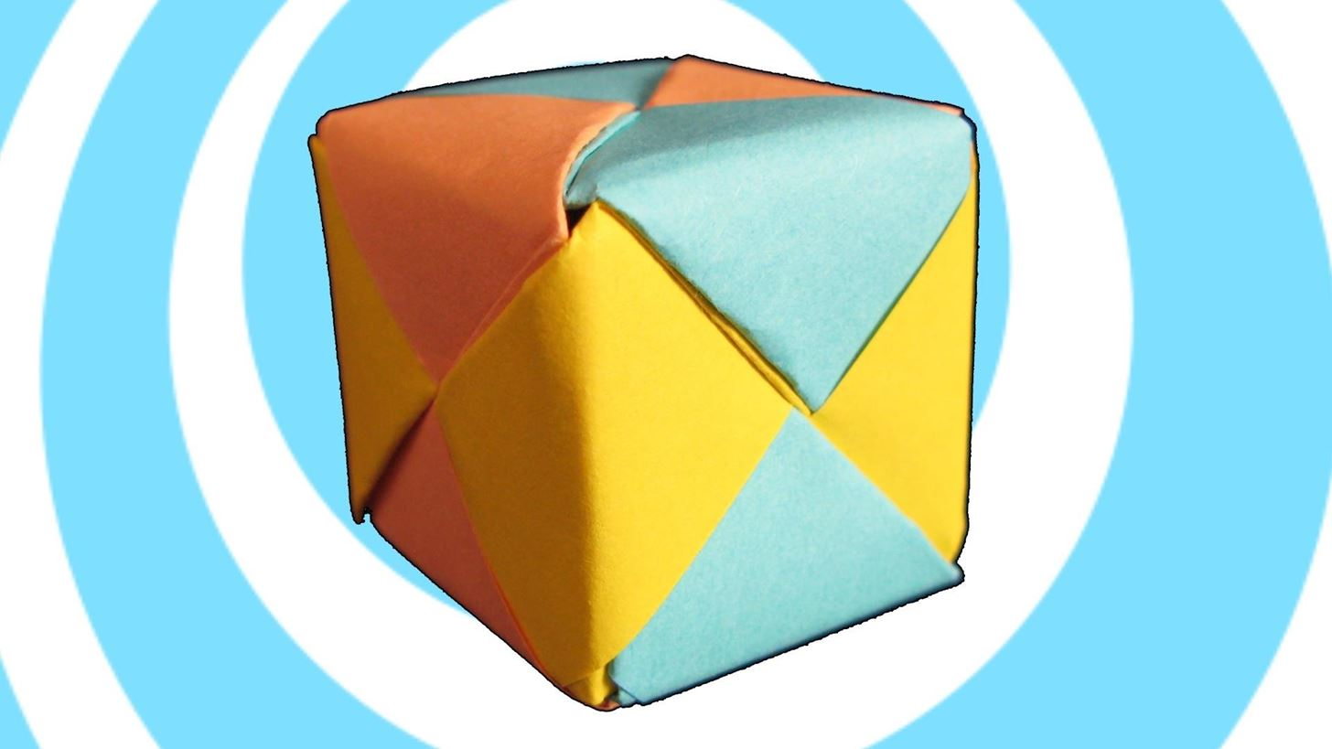 How to Make Modular Origami Sonobe Cube (6 Units)