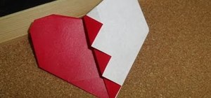 Fold an easy origami broken Valentine's Day heart