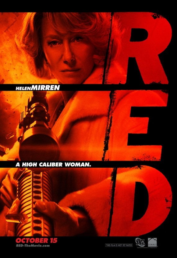 Movie poster for RED starring Helen Mirren