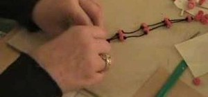 Use a macrame slide knot to close a necklace