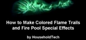Make green colored fire flame special effects