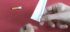 Roll a marijuana joint Inside Out style