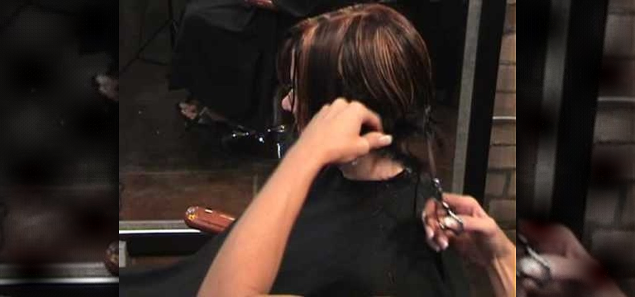 How To Cut An Asymmetrical Angled A Line Bob Hairstyle Hairstyling