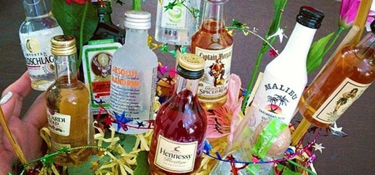 Forget Flowers—Give Your Sweetheart a Bouquet of Mini Alcohol Bottles on Valentine's Day