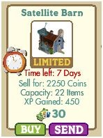 Blue Cow and Blue Tree have hit the market in Farmville!