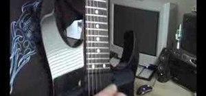 Do pinch harmonic on electric guitar