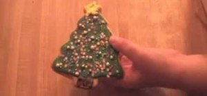 Decorate Christmas tree cookies with royal icing