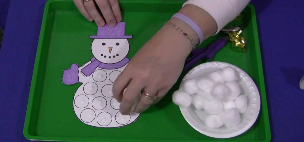 how to do a cotton ball snowman kids project kids activities wonderhowto