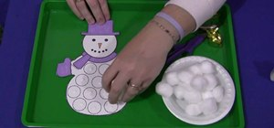 Do a cotton ball snowman kid's project