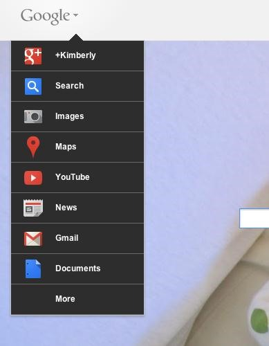 How to Get the New Google Navigation Menu