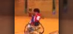 Maneuver on the court in a wheelchair