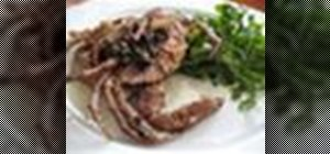 Cook fresh soft shell crab in a caper and brown butter sauce