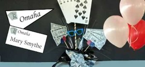 Make a DIY poker themed party centerpiece for cheap
