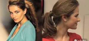 Create a Lela Rose inspired messy ponytail