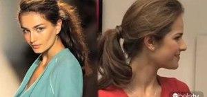 Create a Lela Rose inspired messy ponytail