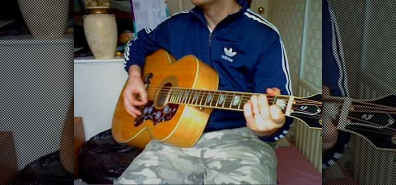 How To Play History By The Verve On Guitar Acoustic Guitar