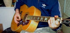 """Play """"History"""" by The Verve on guitar"""