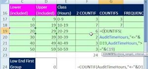 Group quantitative data in Microsoft Excel