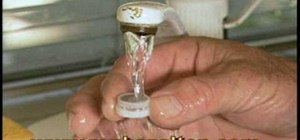 Clean a faucet aerator