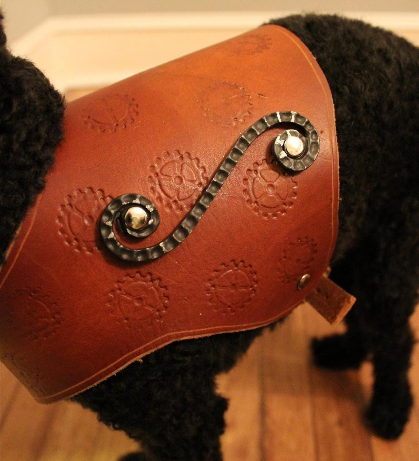 Sparky Gets Steampunked: How to Make a Leather Harness for Your Dog